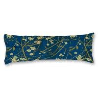Azul con encanto Patrón de Flores de Encargo Largo Fundas de Almohada 20*54 pulgadas Del Cuerpo Fundas de Almohada Cubierta de Cama En Casa Decorativa Funda de Almohada regalo