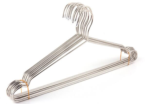 42CM Clothes Hangers Stainless Steel Coat Drying Rack Clothes Hanger