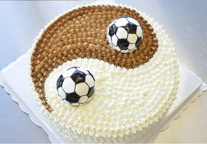 Image 2 - 2 Pcs/Set 3D Football Shape Cake Mold AluminumBall Sphere Non toxic Cake Mould Chocolate Pan Mold Kitchen Baking Tools