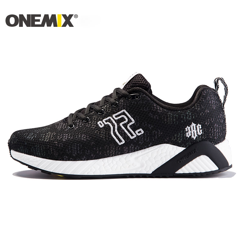 купить Onemix men's running shoes colorful reflective vamp cool light breathable sport shoes for men sneakers for outdoor walking shoes по цене 3384.24 рублей