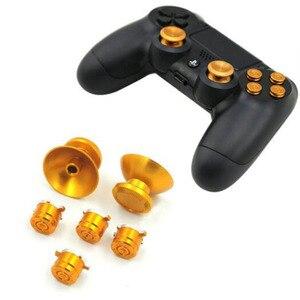 Image 4 - Металлический аналоговый джойстик с рукояткой для джойстика + кнопки ABXY запасная часть для Sony Playstation Dualshock 4 PS4 DS4 контроллер геймпада