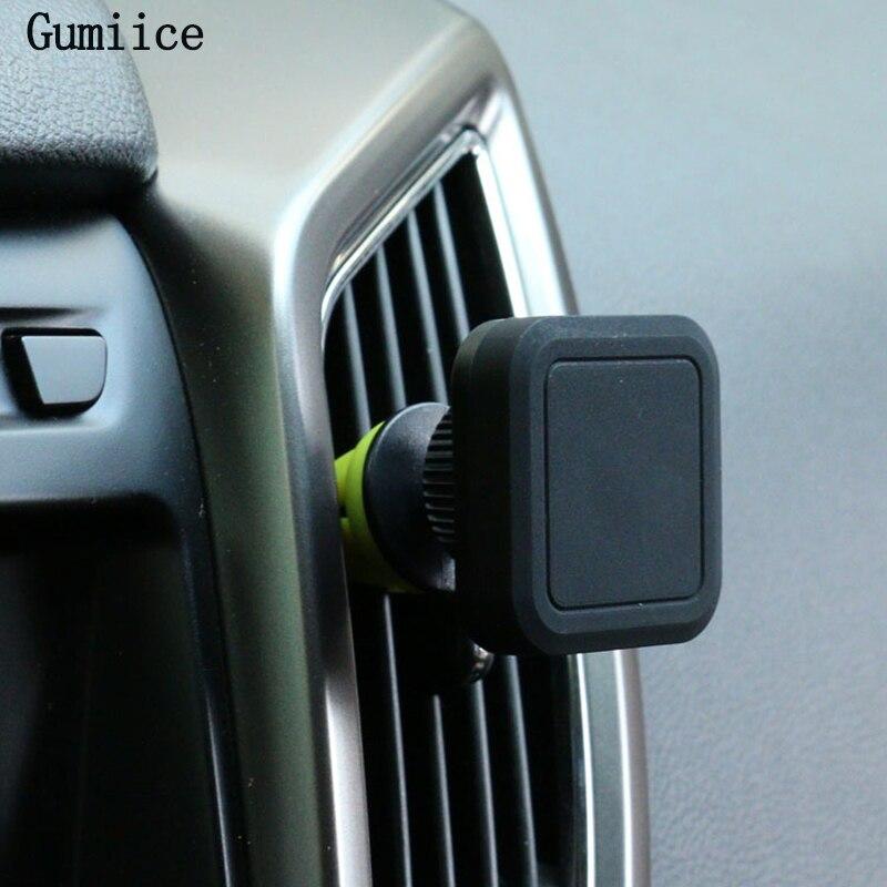 imágenes para Gumiice succión magnética teléfono móvil soporte de vehículo utilizado en el automóvil de aire acondicionado salida de aire