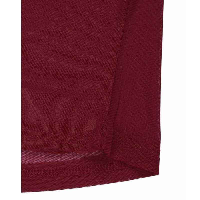 2019 Новые Сексуальные женские блузки Прозрачные сетчатые с круглым вырезом и длинным рукавом, прозрачные блузки, рубашки, женские топы, футболки, большие размеры
