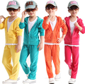 2015 spring autumn Kids clothing set,velvet girls clothing Leisure sports Suit children's casual fashion clothing sets