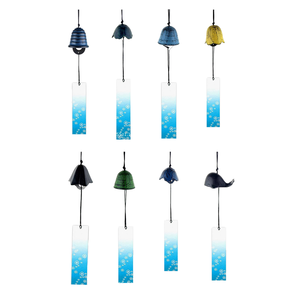 8Pieces Japanese Furin Wind Chime Nambu Cast Iron Iwachu BellsWind Chimes