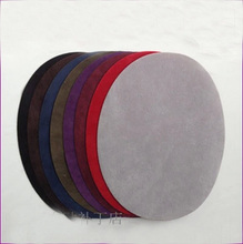 10PCS/lot oval Back ironing flocking glue faux suede patches 11*14 cm 008004055