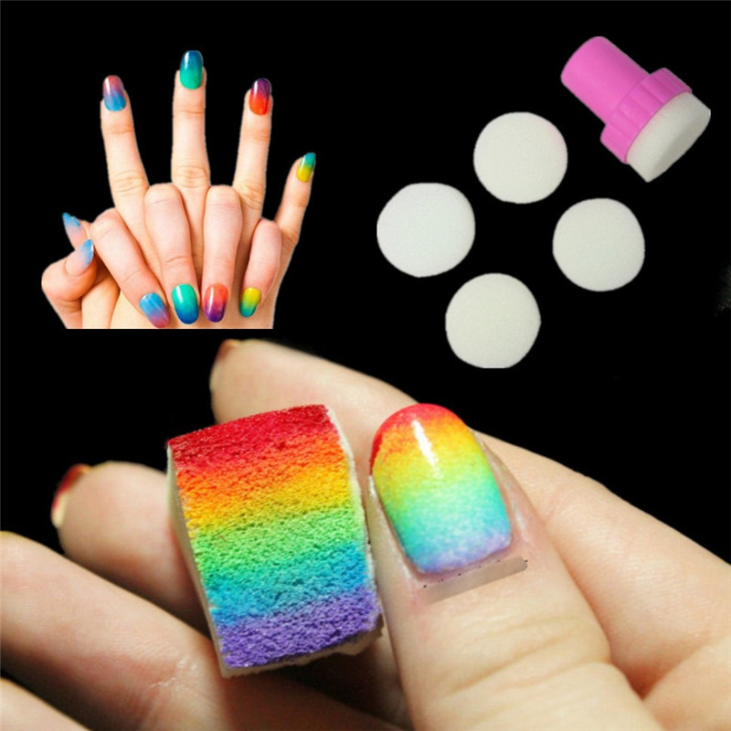5 Pack New 2015 Black Lace 3D Design Nail Art Stickers
