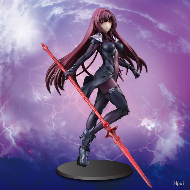 Anime Fate Grand Order Lancer Scathach Pre-Painted PVC Action Figure Collectible Model Kids Toys Doll 18cm le fate топ
