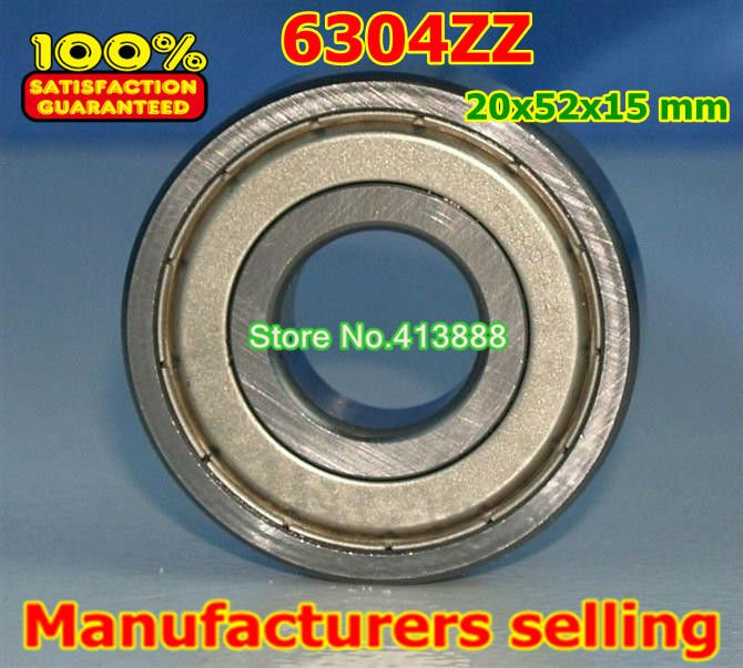 Factory direct sale 6304 6304ZZ 6304-2Z 6304Z 80304 20*52*15 mm High quality deep groove ball bearing 10pcs/lot gcr15 6326 zz or 6326 2rs 130x280x58mm high precision deep groove ball bearings abec 1 p0