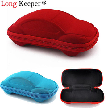Long Keeper 2018 Children Car Shaped Glasses Case Cute Glasses Strage Bag Box Cases Kids Sunglasses Cases Automobile Styling Box