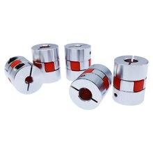 Acoplador de motor flexível d20l25, acoplador de garra de alumínio flexível 5x8mm 3mm 4mm 5mm 6mm 6.35mm 7mm 10mm