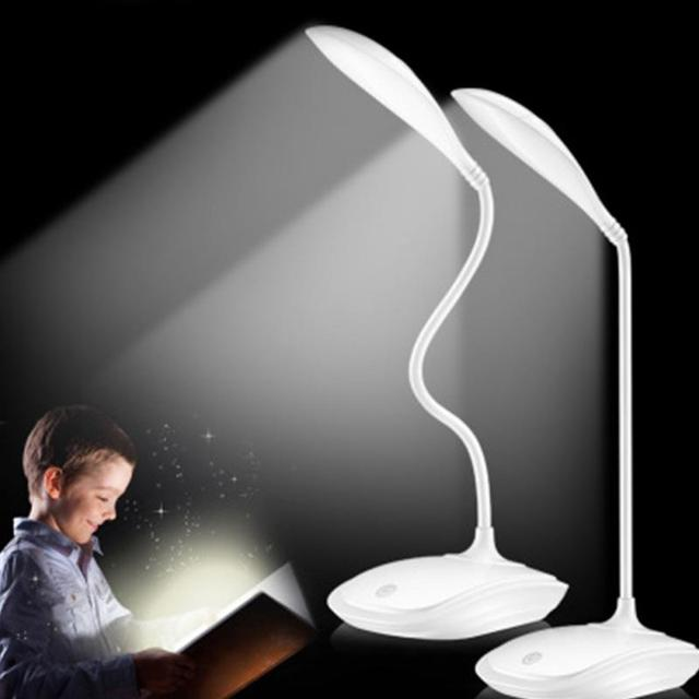 High Quality Adjustable intensity USB Rechargeable LED Desk Table Lamp Reading Light Touch Switch