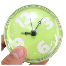 Waterproof 2.75'' Bathroom Bath Shower Clock Watch Clear Suction Home Wall Decor green