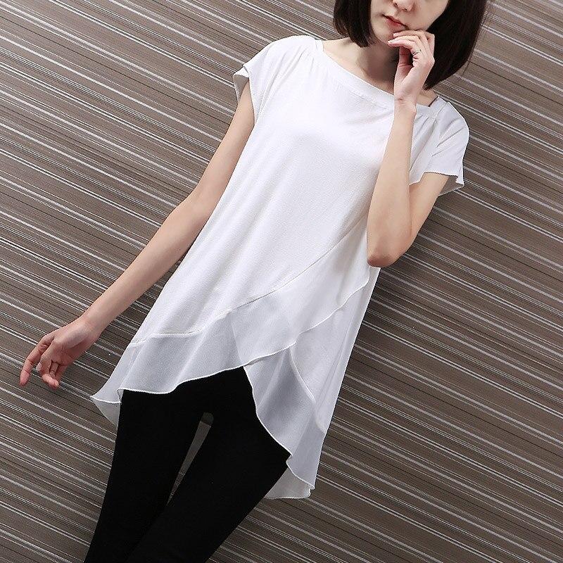 6eba0b5fa14b1 Yichaoyiliang лодка Средства ухода за кожей шеи белый Летние футболки  Повседневное Peplum Tee для Для женщин Свободный пуловер рубашка