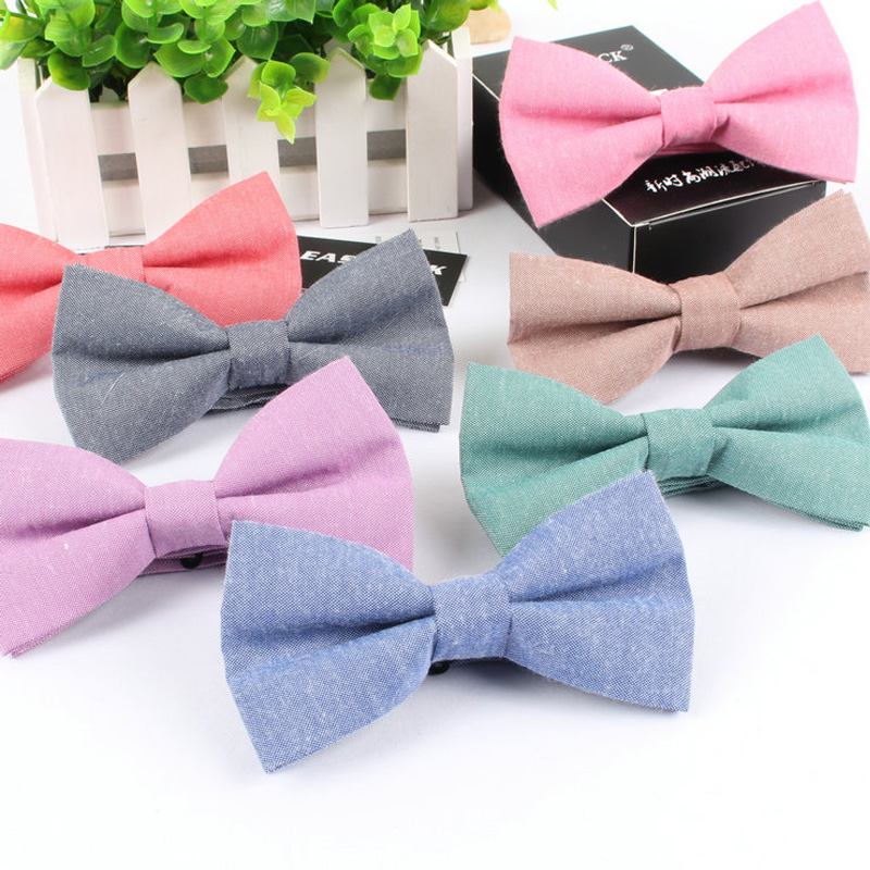 Fashion Men Boys Children Students Adjustable Cotton Bowtie Solid Butterfly Bow Tie Holiday Prom Birthday Party Gift Accessories Aromatic Character And Agreeable Taste