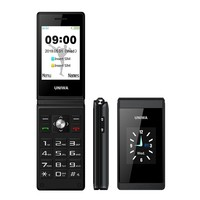 UNIWA X28 Flip cell phone 2.8 inch Russian keyboard Dual Display phones Bluetooth FM Dual SIM Mobile Phone push button telephone