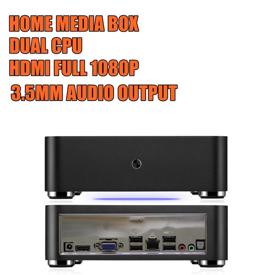 ITX APU E350 Dualcore 1.6GHz 2G RAM 16G SSD Mini PC Case Full HD 1080 Desktop Computer