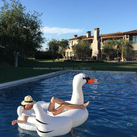 Inflatable giant swan floating rideable swimming pool toy float raft 190cm for both Adults & Child