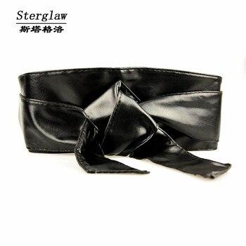 nuevo concepto 62de8 34e3f Corsé moda nueva Fajas cinturón ancho de cuero para mujeres vestido  Cummerbund Ceinture Femme 2019 Casual mujer Sterglaw N005