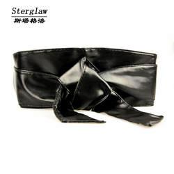Корсет моды новый Fajas кожа лук широкий пояс для женское платье поясом Ceinture Femme 2019 повседневная женская обувь Sterglaw N005