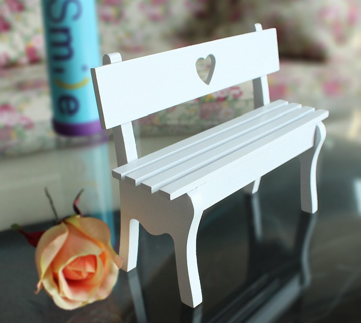 Home decoration decoration wedding garden landscape Log rustic all-match fashion small chair love cutout chair props decoration