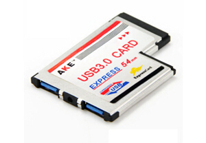 Free Shipping NEW Notebook Express To USB 3.0 Expansion Cards ExpressCard 54 Slip Adapter Converter