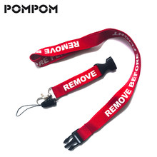 5 PCS Remove Before Flight Lanyards for Key Holder Neck Strap For Lanyard DIY Red Hang Rope Keychain Lanyard Card Gym Key Chain(China)