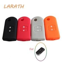 LARATH Silicone Case Car Remote Key Cover for Mazda 2 3 5 6 M5 CX7 CX9 RX 2 Buttons Flip Key Auto Accessories