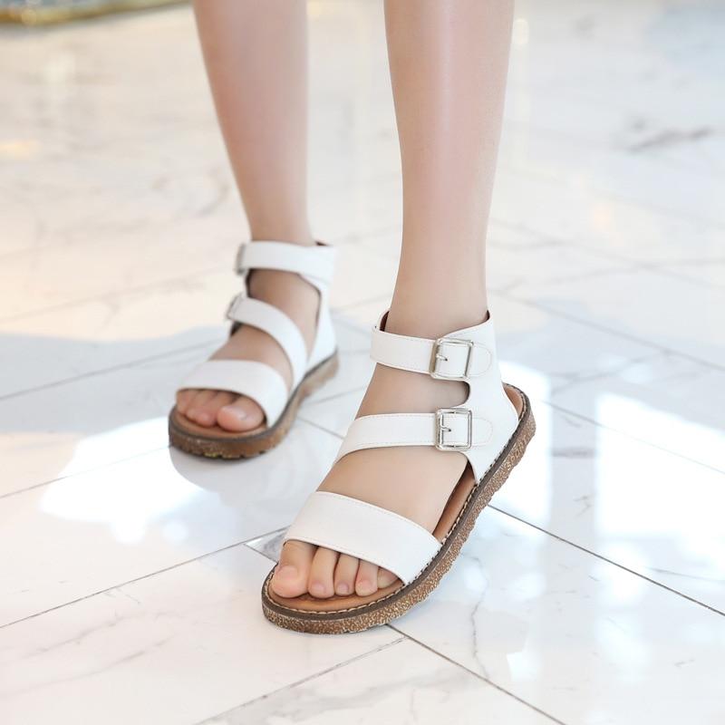 2019 Kids Flat Sandals For Girls Summer Shoes Big Girl Sandals Children Beach Princess Sandals 3 4 5 6 7 8 9 10 11 12 Year Old