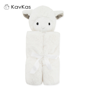 Image 3 - Kavkas Baby Blankets 76x76cm Baby Bedding Winter Birthday Gift Newborn Soft Warm Coral Fleece Plush Animal Educational Plush Toy