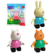 Genuine Peppa Pig -Peppa Family Figures Set-Mummy, Daddy, George & NEW High Quality 4pcs/set candy suzy childrens toy