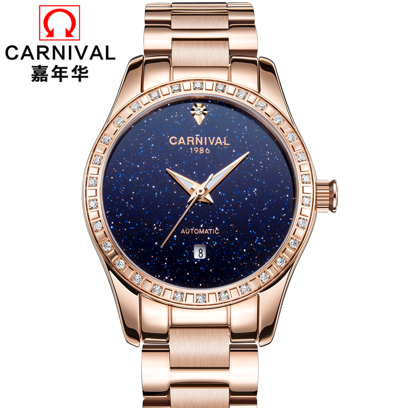 цена на Relojes Mujer 2017 Ladies Watch Stainless Steel Relogio Feminino Women Watches Top Brand Luxury Mechanical Wristwatches Clock