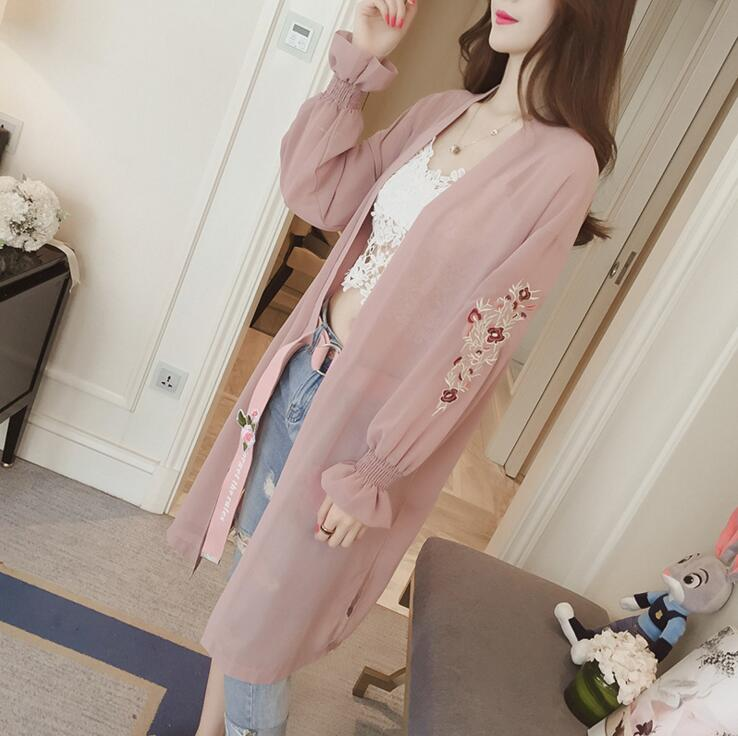 2018 New Arrive Spring Long Length Ladys Cardigans Casual Rayon Black Knitted Sweater Women Summer Loose
