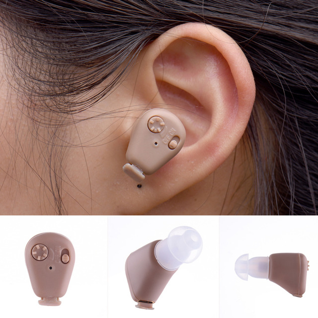 Portable Listening Mini Digital Rechargeable Hearing Aid Ear Sound Amplifier In the Ear Tone Volume Adjustable Ear Care With Box