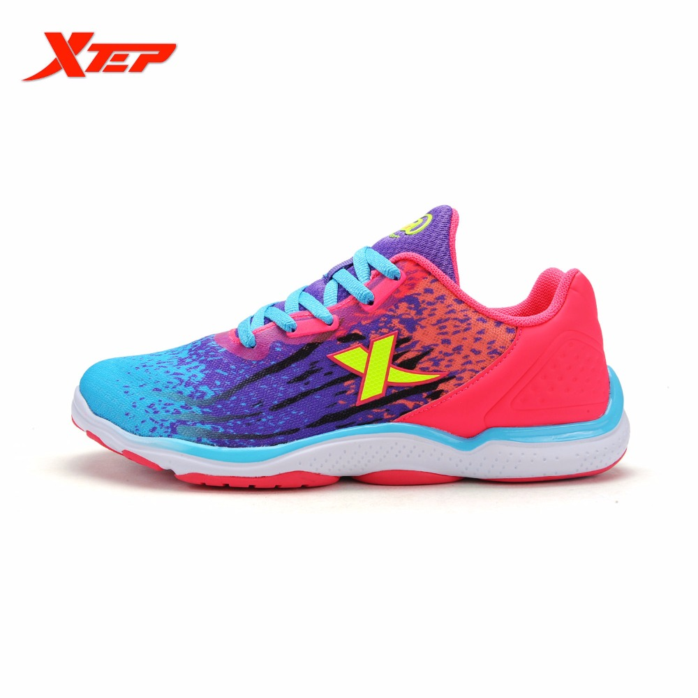 ФОТО Xtep Sports Shoes Women Breathable Trail Running Shoes Outdoor Athletic Shoes Women Trainers Air Mesh Mesh Sneakers 984118119080