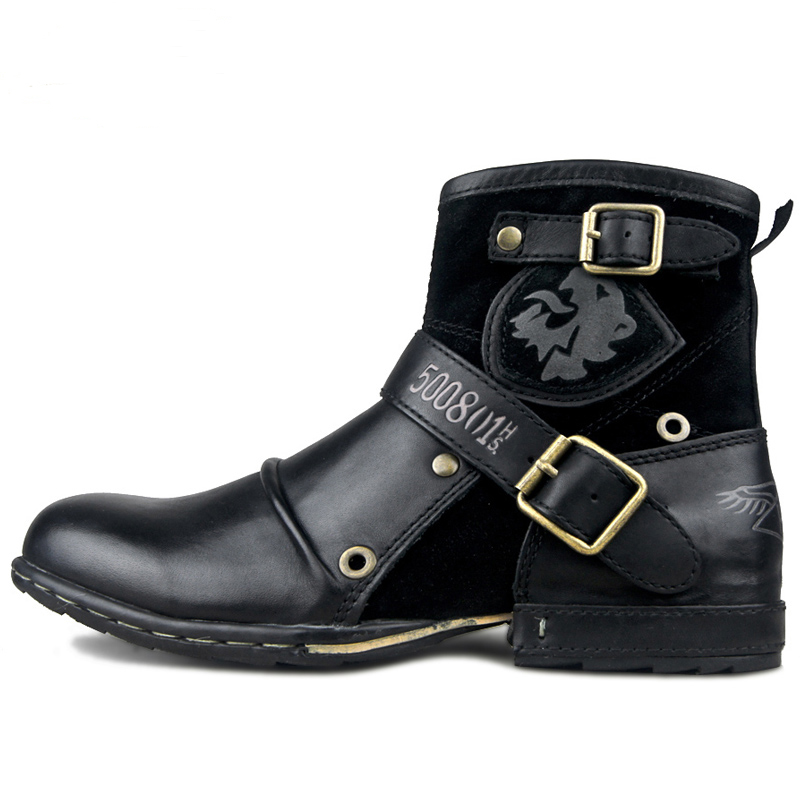 OTTO strefa męska jesień/zima buty buty prawdziwa skóra bydlęca wysokiej góry kostki buty z bawełny wyściełane skórzane buty rozmiar ue 39 46 na  Grupa 3