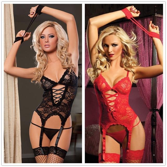 Women Sexy Clothing Underwear Plus Size XL XXL Lingerie Sexy Lingerie Teddy Satin Nighty Babydoll Nightwear Corset Garters