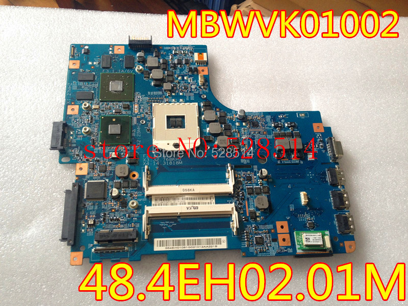 original Laptop motherboard for GATEWAY ID59C P/N:MBWVK01002 48.4EH02.01M 100% Test ok
