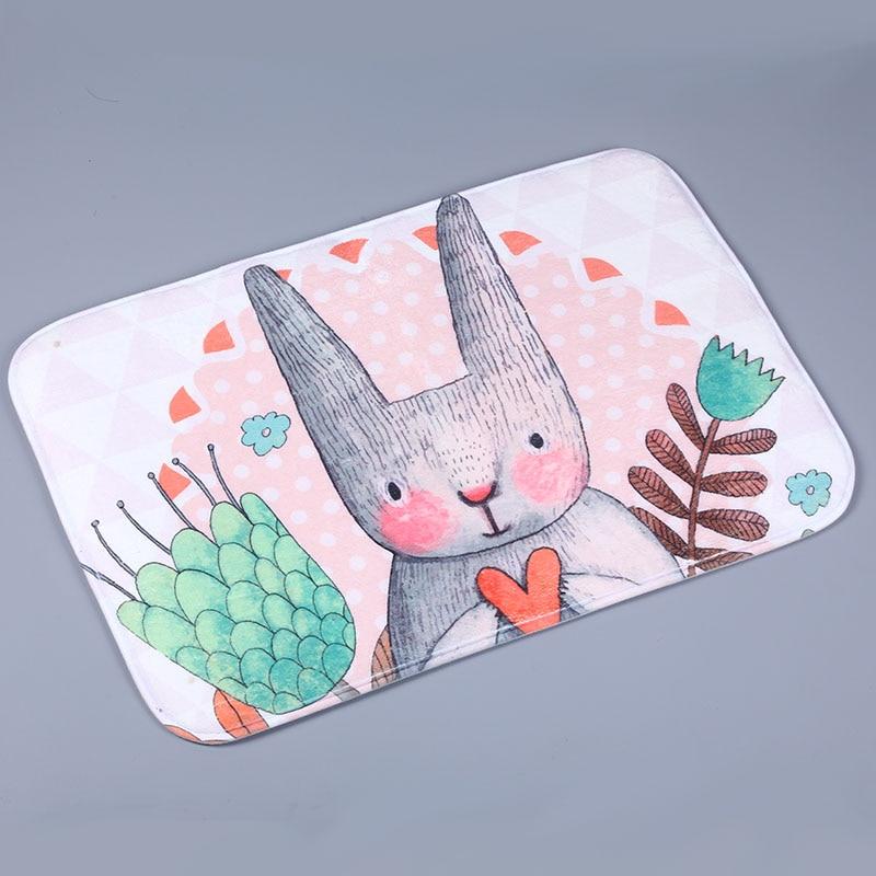 Easter Bunny Rabbit Non Slip Doormat Bath Entrance Carpet