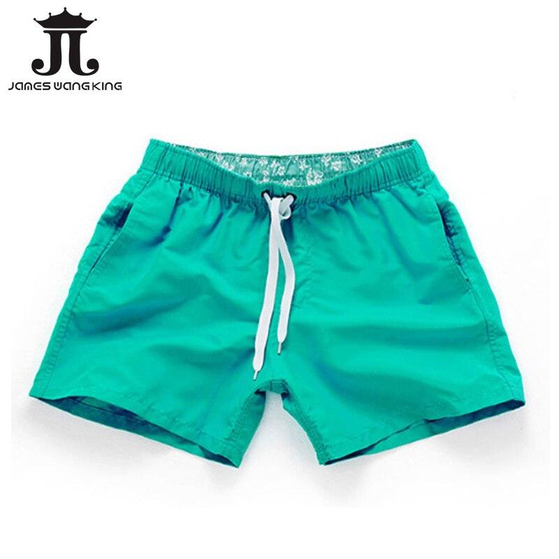 Summer Men Beach Shorts Candy Colors Brand Printed Boardshorts Bermuda Masculina Hot Sale Asia Size S-3XL