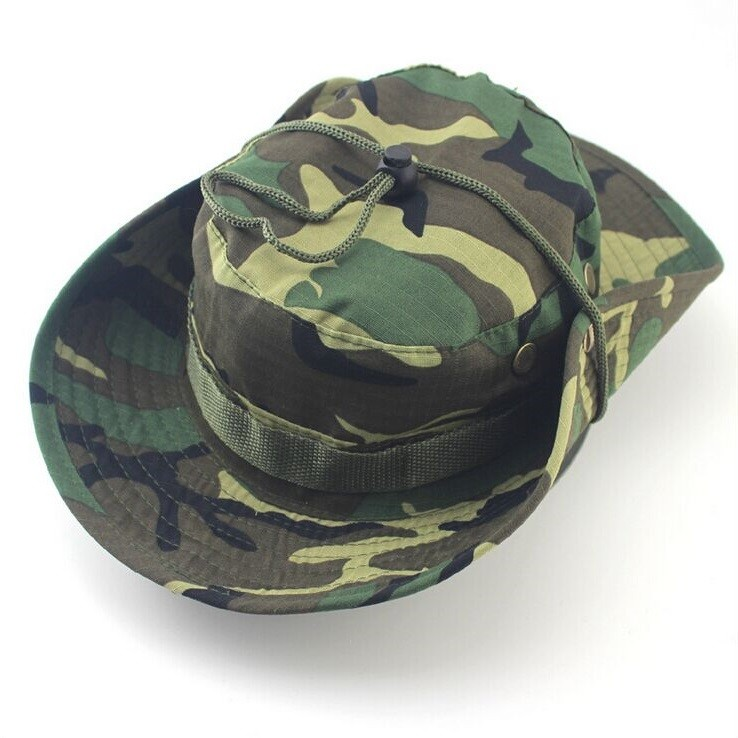 Classic US Combat Army Style Gi Boonie Bush Jungle Hat Sun Fishing Cap Men Women's Cotton Ripstop Camouflage Military Bucket Hat 3