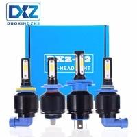 DXZ 2PCS H4 H7 H8 H11 HB3 HB4 COB LED Headlight 72W 8000LM Car LED Headlights