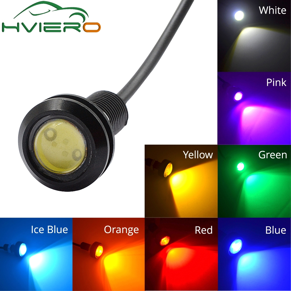 White Red Blue yellow 18mm 9w DC 12V Led Eagle Eye Light Daytime Running Drl Backup Car Motor Parking Signal Lamps Waterproof car styling 10pcs high brightness drl 23mm eagle eye daytime running light waterproof parking lamp led car work lights source cc