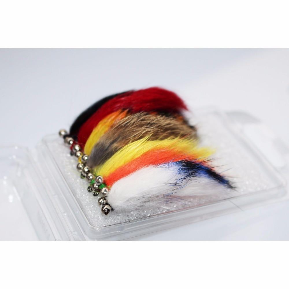 Tigofly 7 цветов, смешанные зонкерные ленты, форель, мухи, приманки муха, набор размеров #6