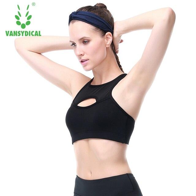 9a3a11219f Vansydical Professional Mesh Gym Fitness Sports Bra Women Sports Yoga Tops