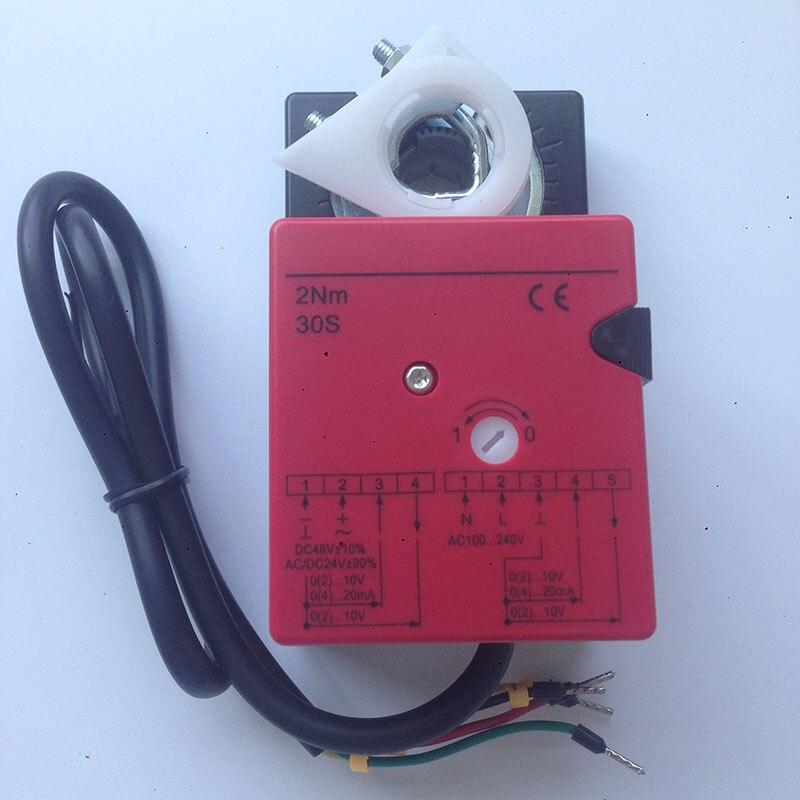 一般ダンパアクチュエータ2nm調節操作のための空気制御ダンパーでhvacシステムADC24V/ac100 240v  グループ上の 家のリフォーム からの バルブ の中 1