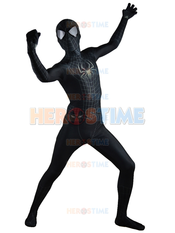 The-Amazing-SpiderMan-2-Black-Costume-Black-Spider-  sc 1 st  AliExpress.com & Black The Amazing Spiderman Costume Spandex 3D Fullbody Halloween ...