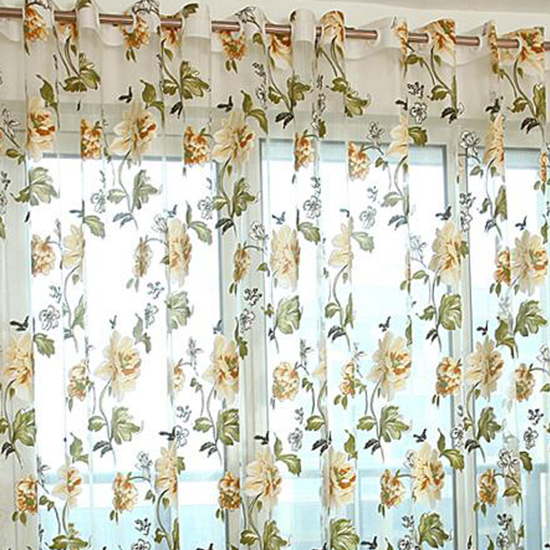 Luxury Kitchen Curtains: Eseld Purple Tulle For Windows Luxury Sheer Curtain For