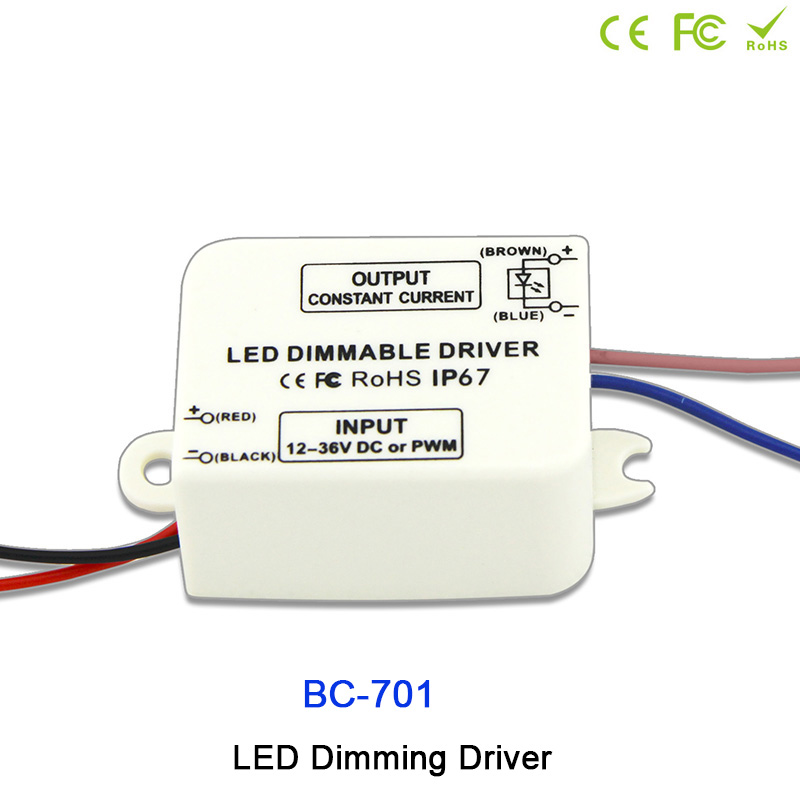 BC-701;Waterproof IP67 LED PWM signal constant current Dimming Driver,350mA to 680mA a low voltage led constant current driver waterproof 350ma 1w power constant current source led driver 85 265v