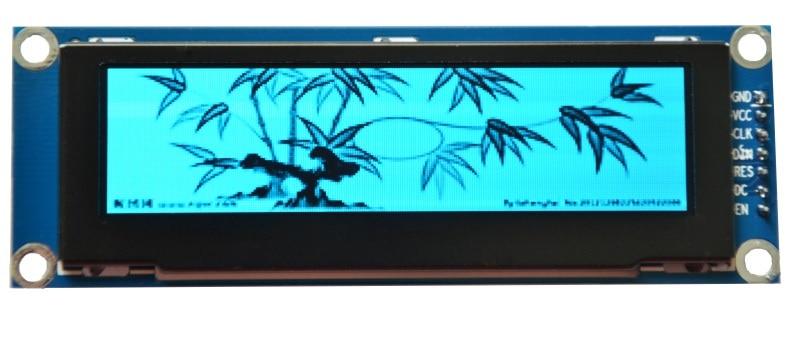 En gros 2 pcs 3.12 pouce 7 P SPI Bleu OLED Module SSD1322 Dur IC 256*64 Interface Parallèle